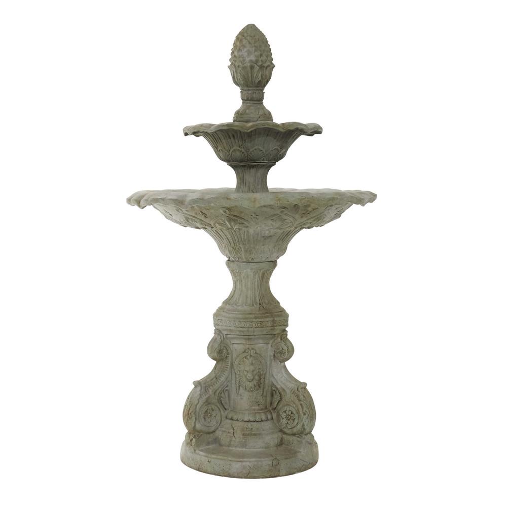 Fontana beige da giardino in resina h 192 cm mathilde - Statue da giardino in resina ...
