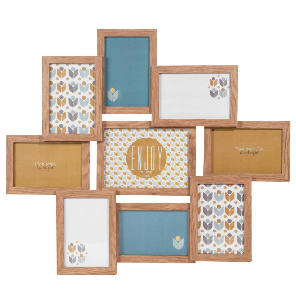 fotorahmen 9 fach 50 x 58 cm portobello maisons du monde. Black Bedroom Furniture Sets. Home Design Ideas