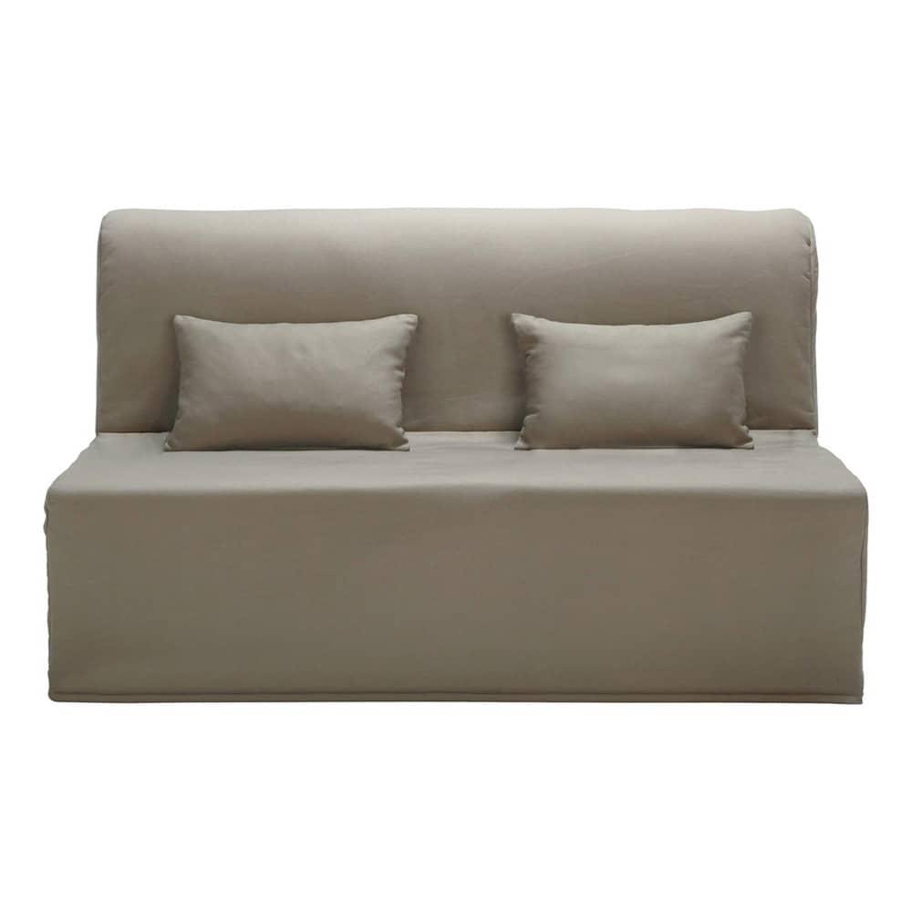 Funda de algod n color topo para sof cama acorde n elliot for Sofa cama colores