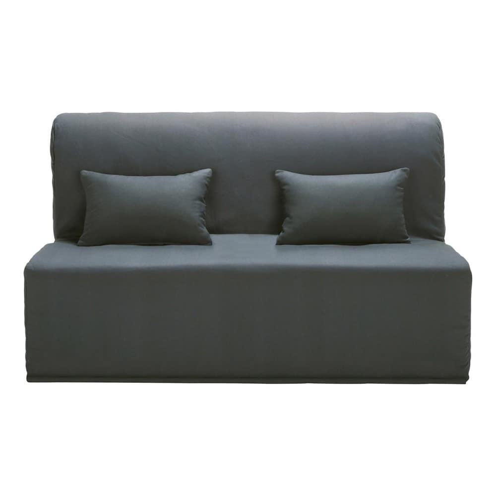 Funda de algod n gris pizarra para sof cama acorde n for Fundas de sofa gris