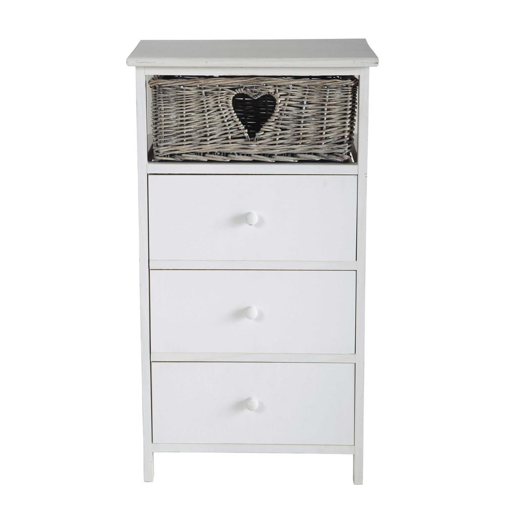 Gabrielle wooden 3 drawer chiffonier one heart basket w - Chevet maison du monde ...