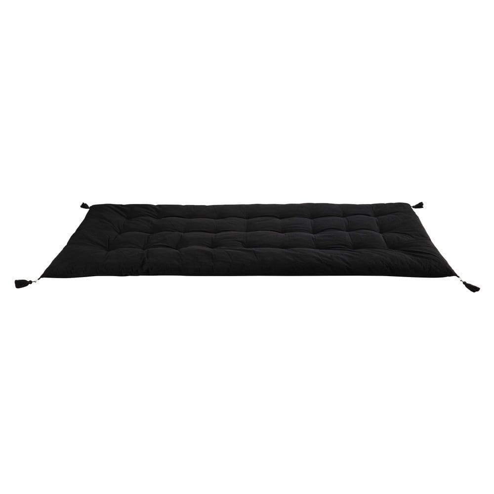 gaddiposh matratze aus baumwolle 90 x 190 cm anthrazitgrau maisons du monde. Black Bedroom Furniture Sets. Home Design Ideas