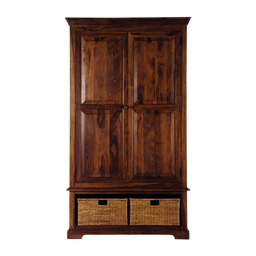 garde manger en bois de sheesham massif l 120 cm luberon. Black Bedroom Furniture Sets. Home Design Ideas