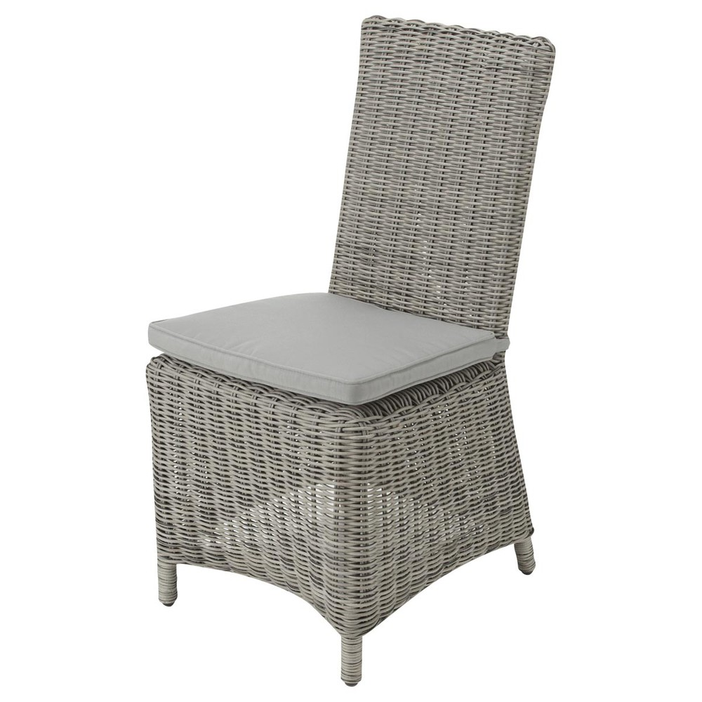Outdoor Lights Cape Town: Garden Chair In Grey Resin Wicker Cape Town