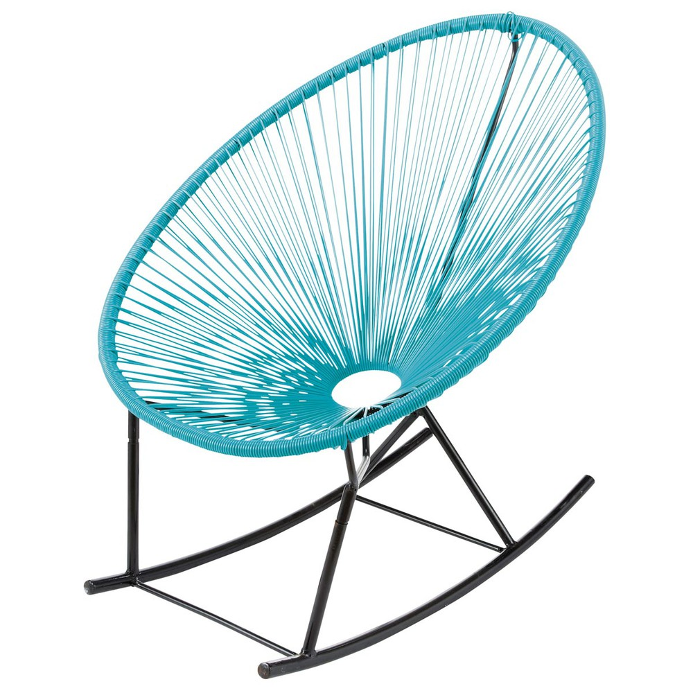 garden rocking chair turquoise copacabana copacabana. Black Bedroom Furniture Sets. Home Design Ideas