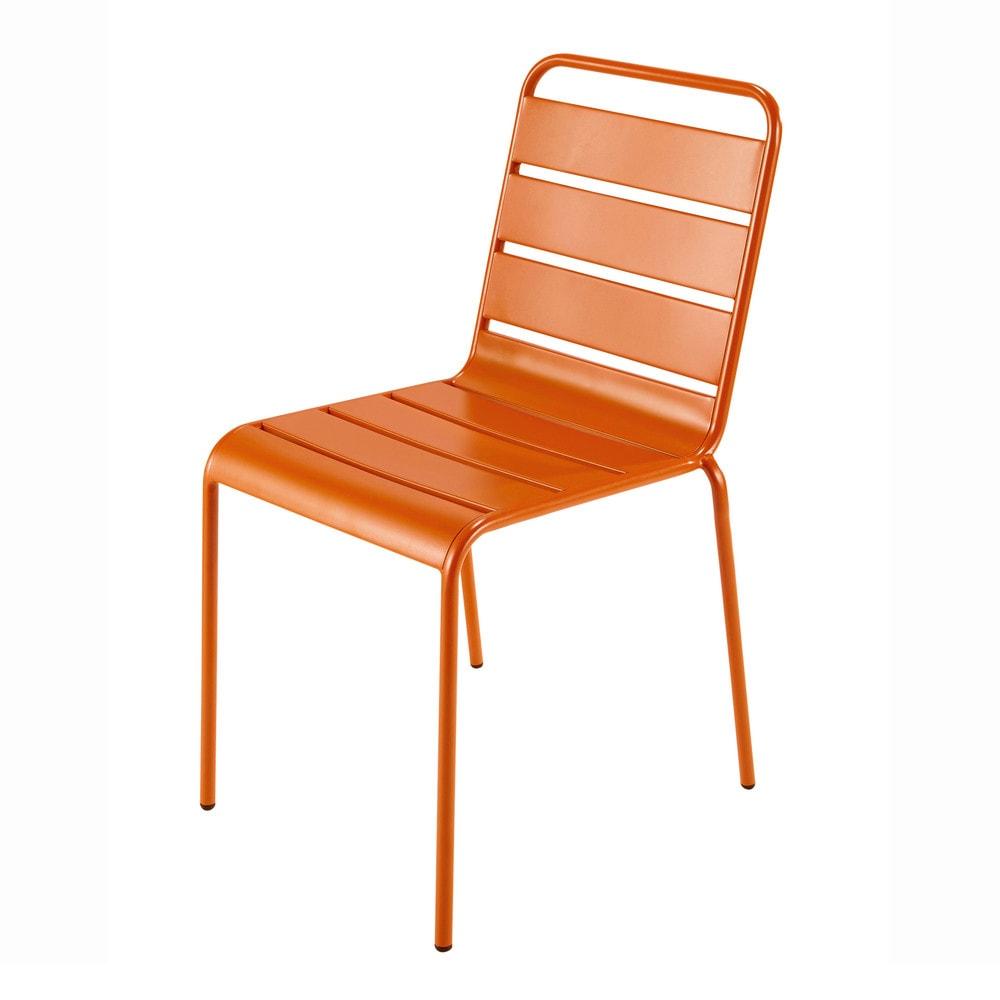 gartenstuhl aus metall orange batignoles maisons du monde. Black Bedroom Furniture Sets. Home Design Ideas