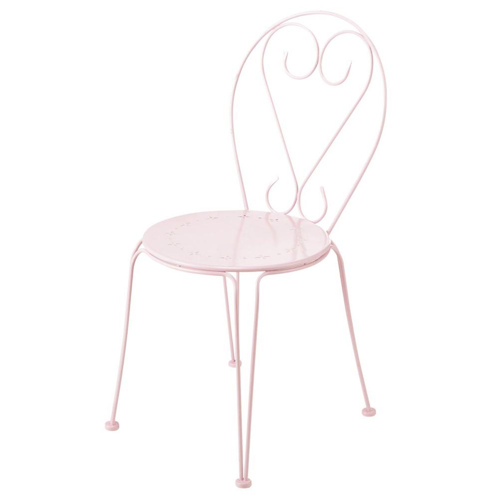 Gartenstuhl aus Metall, rosa Mary  Maisons du Monde