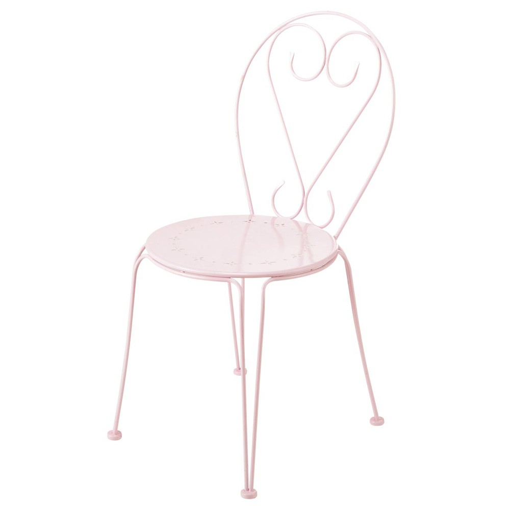 gartenstuhl aus metall rosa mary maisons du monde. Black Bedroom Furniture Sets. Home Design Ideas