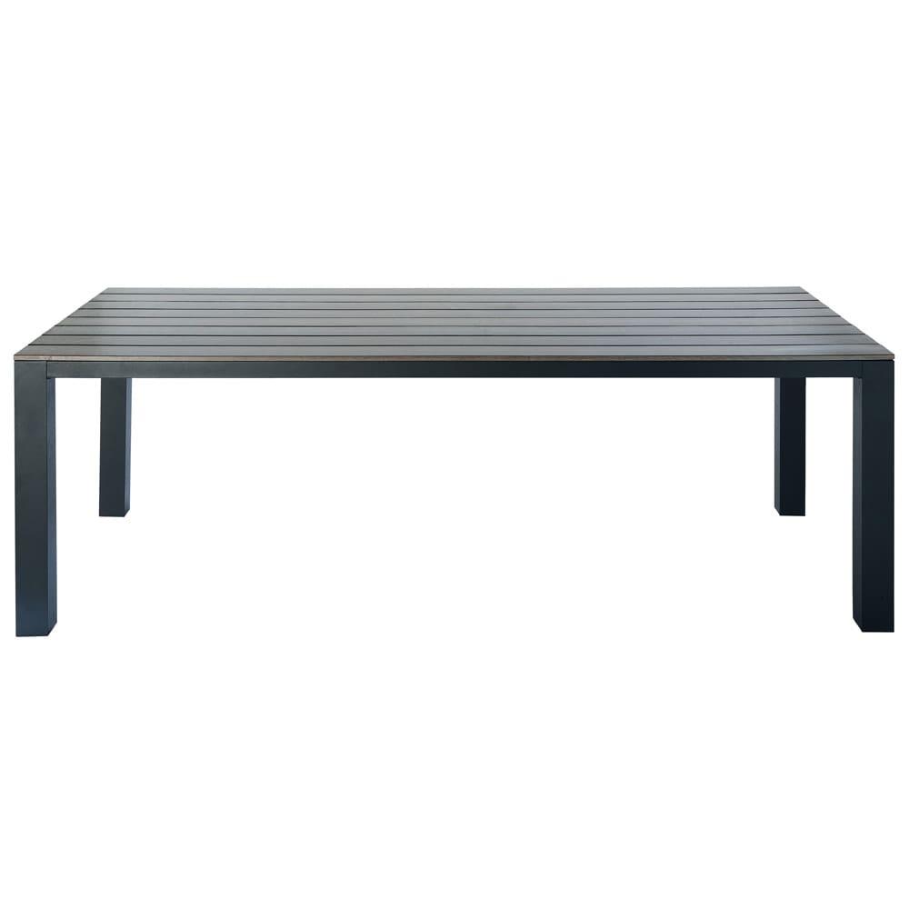 gartentisch aus plastik in holzoptik und aluminium b 230. Black Bedroom Furniture Sets. Home Design Ideas