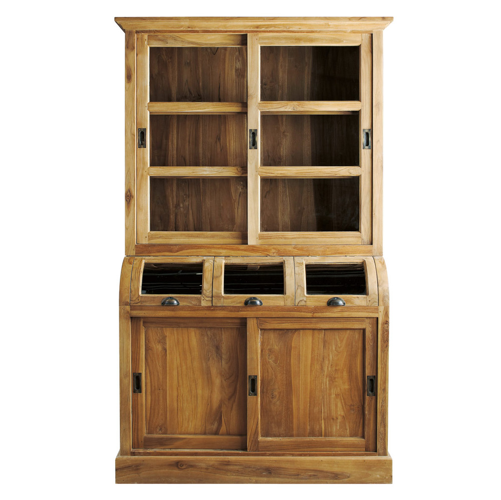 geschirrschrank aus massivem teakholz b 130 cm amsterdam maisons du monde. Black Bedroom Furniture Sets. Home Design Ideas