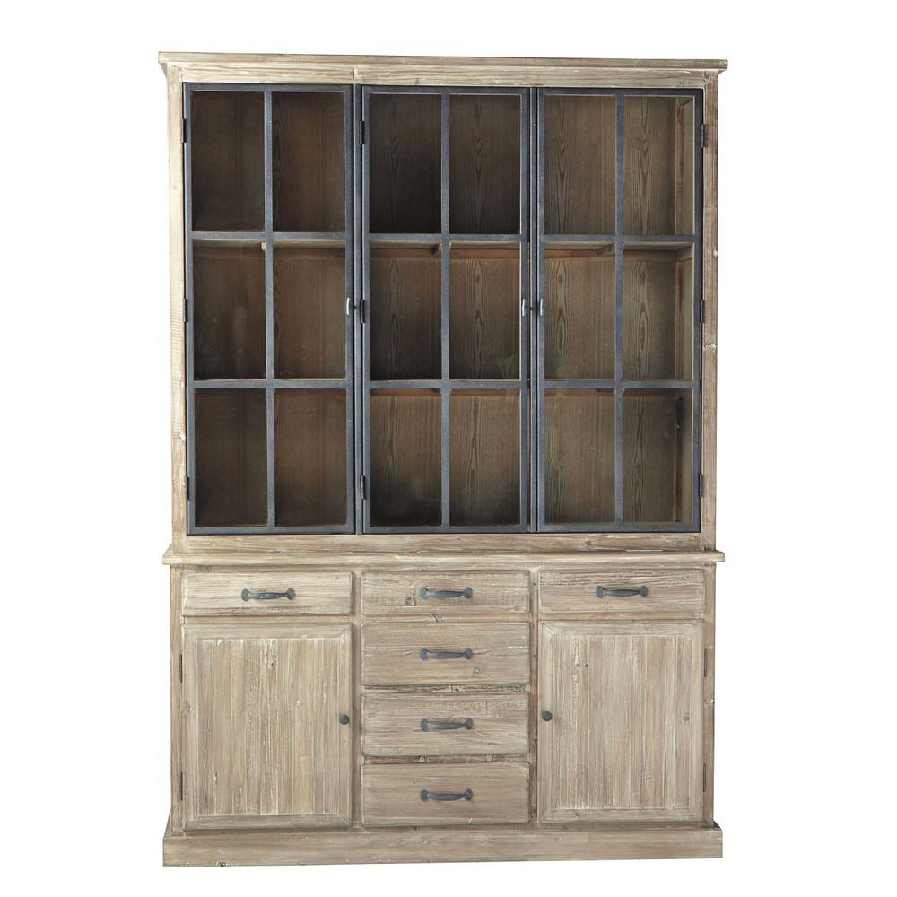 geschirrschrank aus recyclingholz b 152 cm copenhague. Black Bedroom Furniture Sets. Home Design Ideas