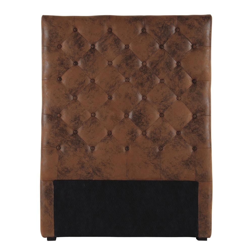 gestepptes bett kopfteil b 90 cm braun chesterfield maisons du monde. Black Bedroom Furniture Sets. Home Design Ideas