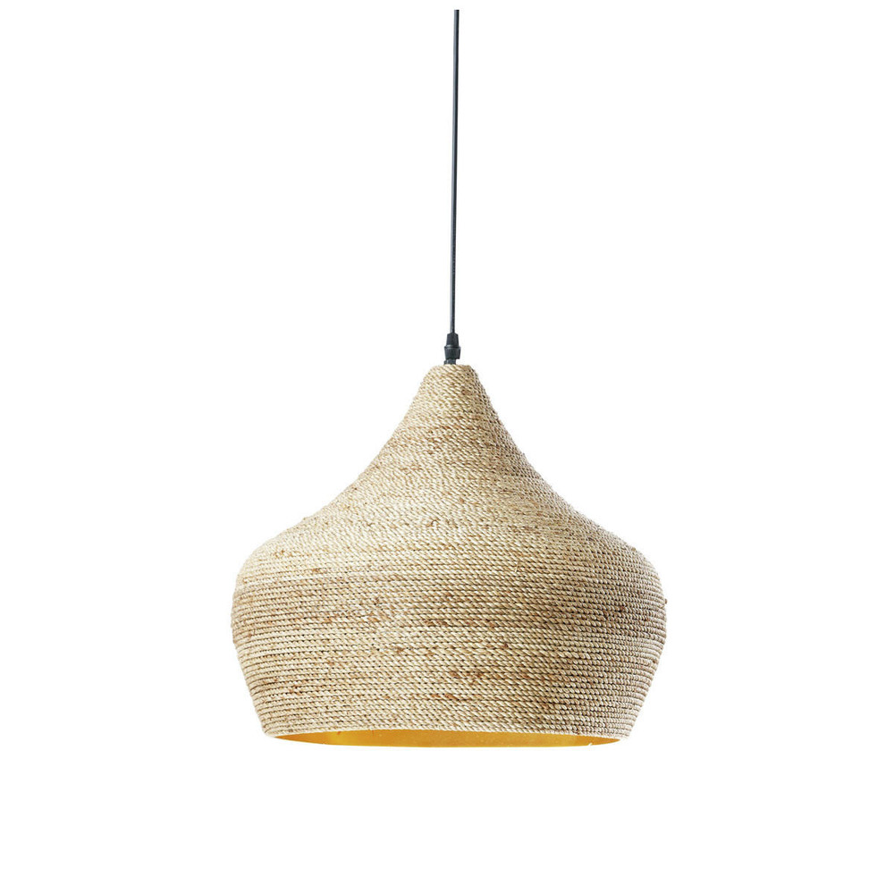 ghabou ethnic pendant lamp in woven hemp d 40cm maisons. Black Bedroom Furniture Sets. Home Design Ideas