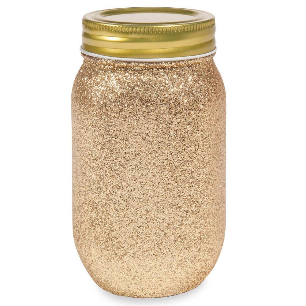 Glaspokal mit goldfarbenen pailletten copper maisons du for Glaspokal deko