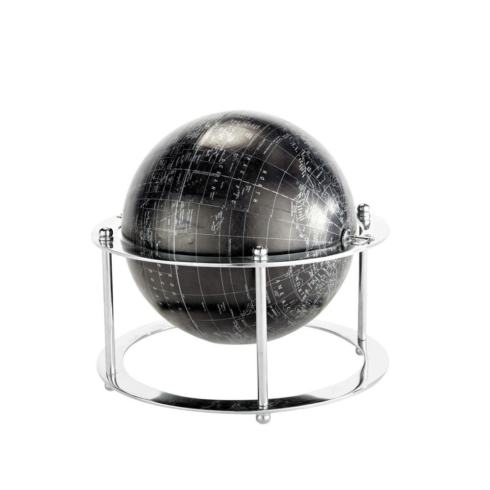 globe d co noir h 24 cm whale maisons du monde. Black Bedroom Furniture Sets. Home Design Ideas
