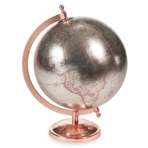 Globe terrestre COPPER GLACE