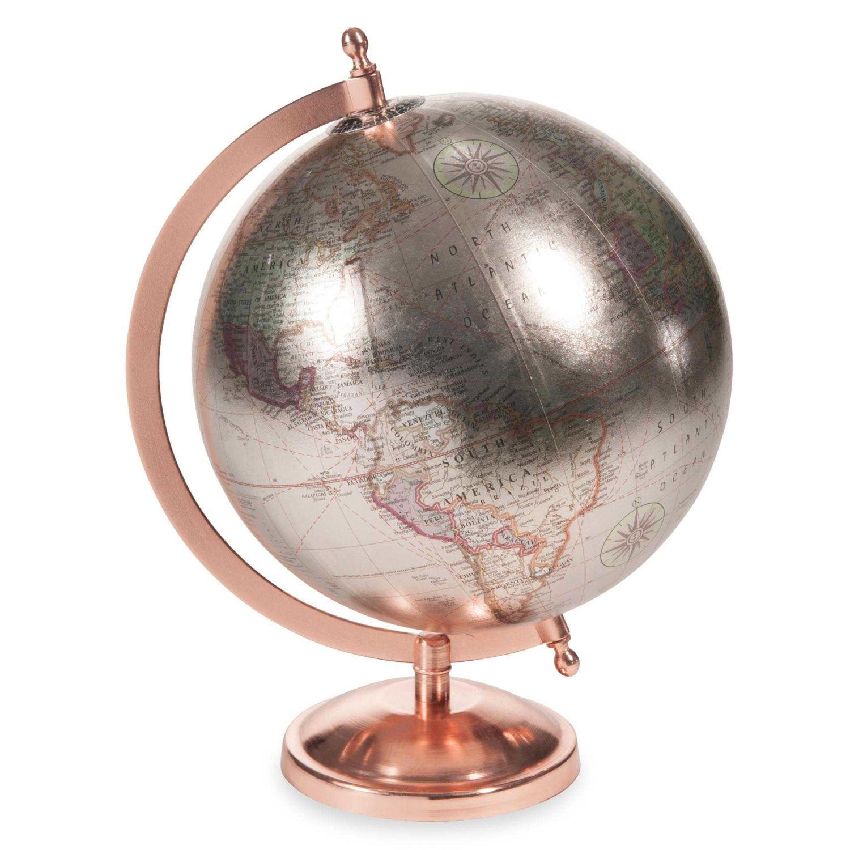 Globus Aus Kupferfarbenem Und Silberfarben Copper Glace Maisons Du