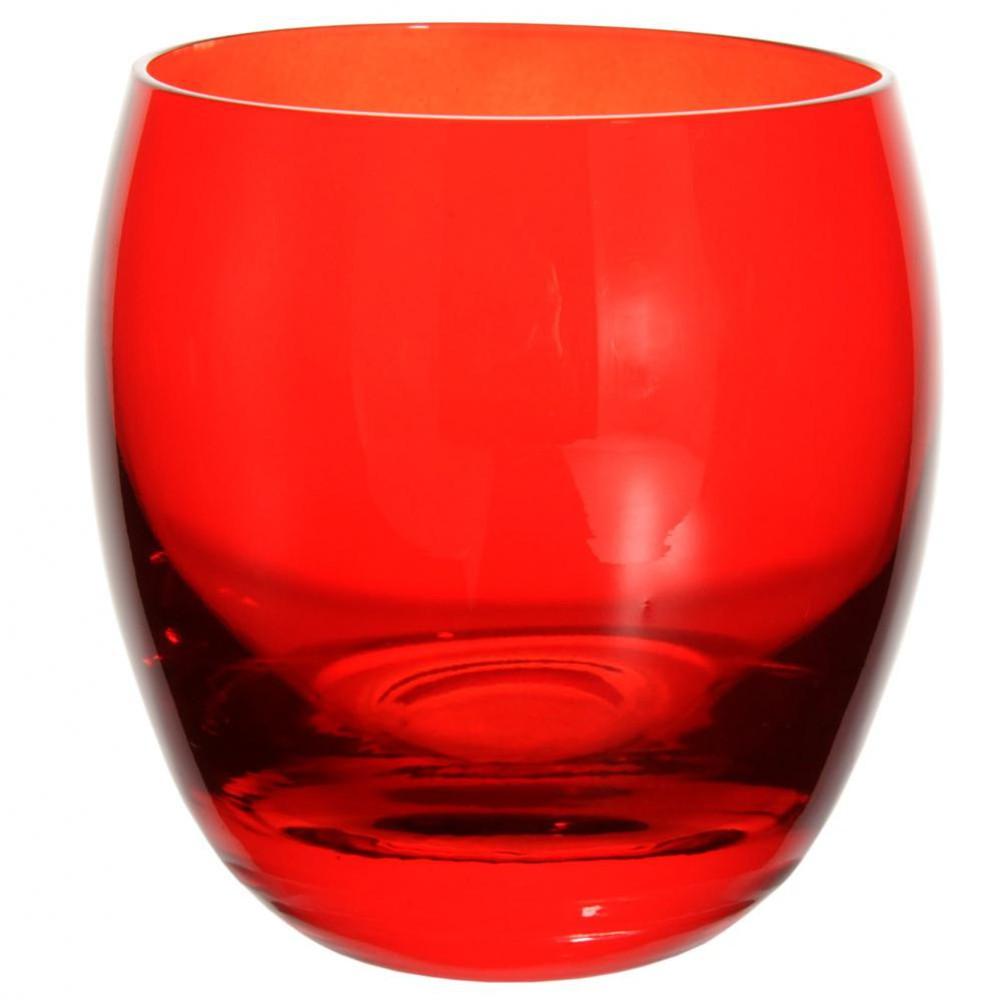 Gobelet tonneau en verre rouge maisons du monde - Bureau en verre rouge ...
