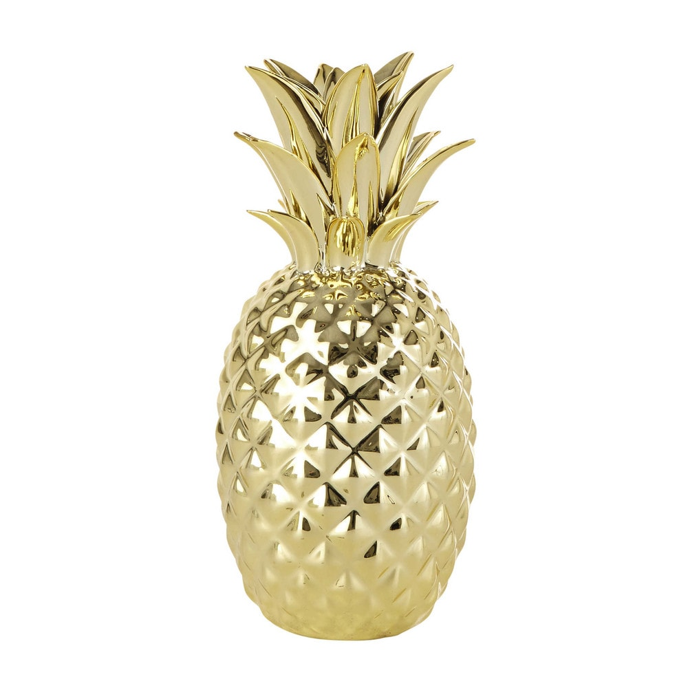 Gold Pineapple Ornament H 23 Cm Maisons Du Monde