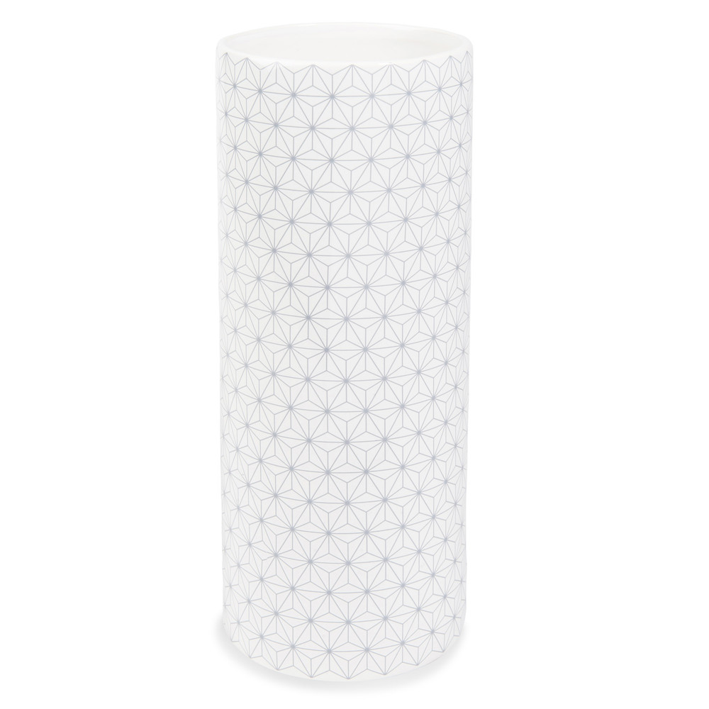 gretchen ceramic vase h 25cm white grey maisons du monde. Black Bedroom Furniture Sets. Home Design Ideas