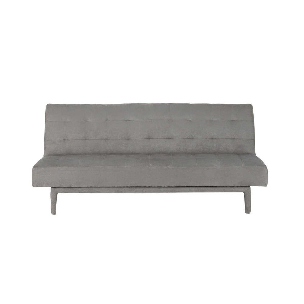 grey 3 seater tufted clic clac sofa bed studio maisons du monde. Black Bedroom Furniture Sets. Home Design Ideas