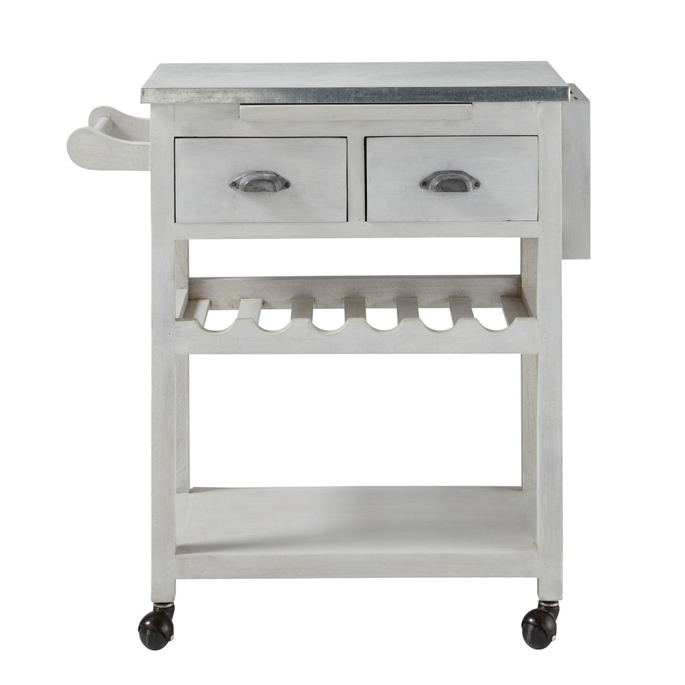 Grey acacia wood kitchen trolley l 80 cm zinc maisons du - Cuisine zinc maison du monde ...