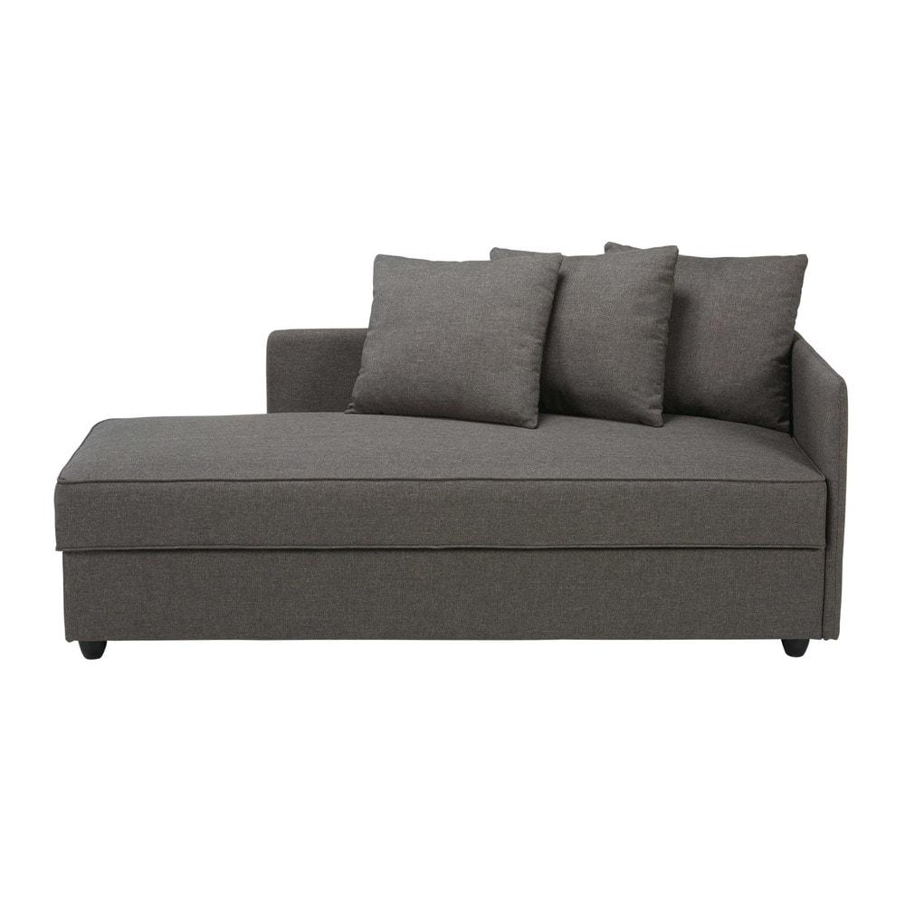 Grey fabric m ridienne cl a maisons du monde for Maison du monde chaise longue