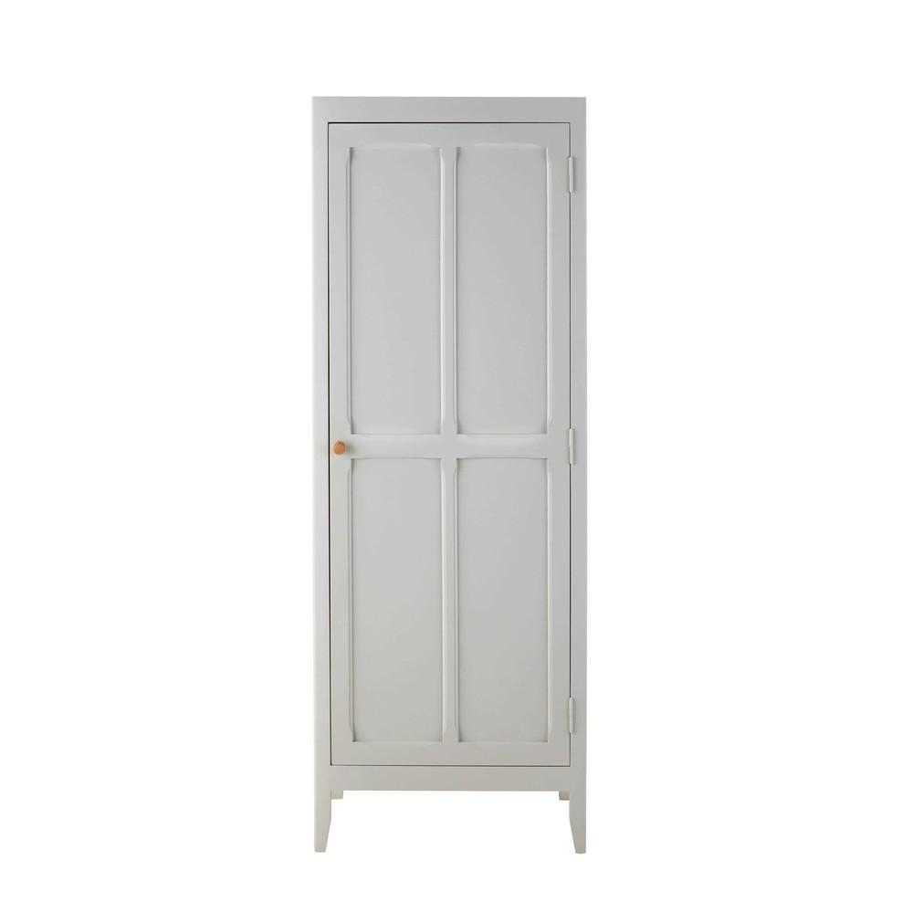 Grey wooden wardrobe l 65 cm sweet maisons du monde - Maison du monde armoire ...