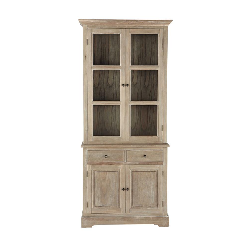 Greyed Paulownia Wood China Cabinet W 90cm Cavaillon