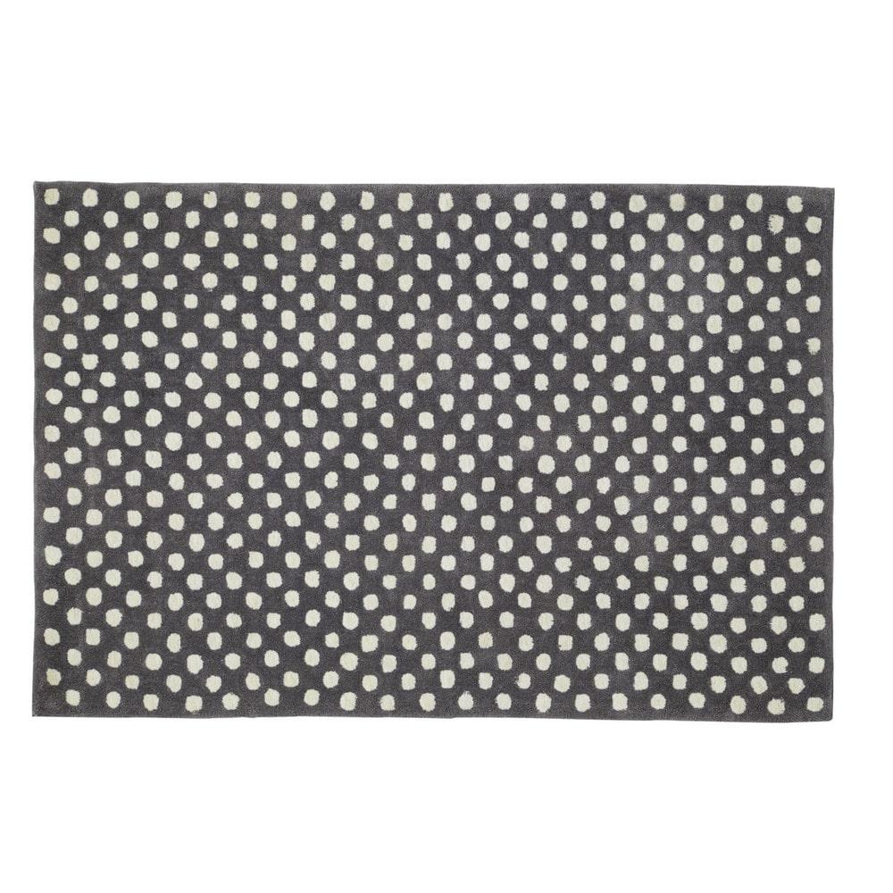 Grijs dolly tapijt met stippen 120 x 180 cm maisons du monde - Grijs tapijt ...