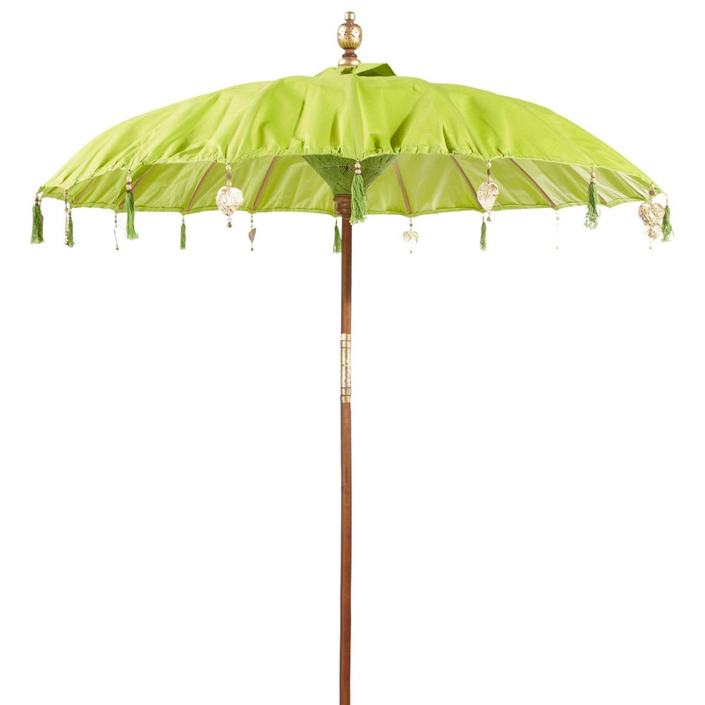 groene ubud parasol maisons du monde. Black Bedroom Furniture Sets. Home Design Ideas