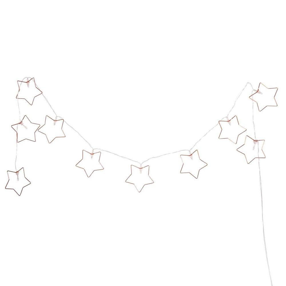 Guirlande lumineuse de no l toiles 160 cm copper - Etoile lumineuse exterieure noel ...
