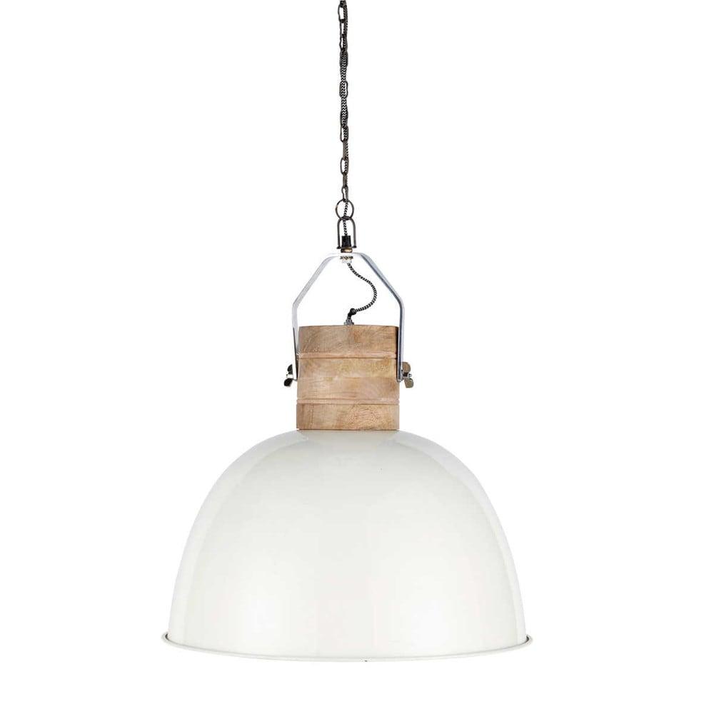 H ngeleuchte finmark aus holz und metall d 50 cm wei - Maison du monde lamparas de mesa ...