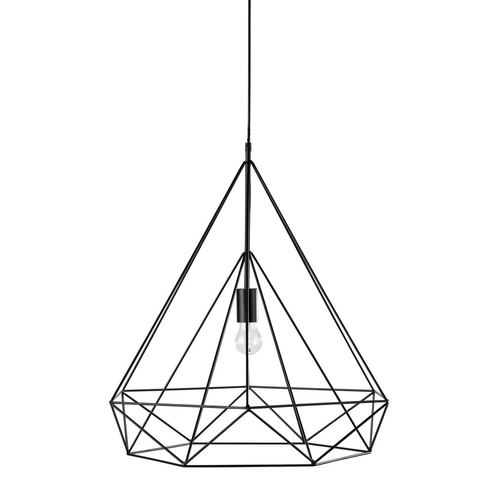 h ngeleuchte iron aus metall d 60 cm schwarz maisons du monde. Black Bedroom Furniture Sets. Home Design Ideas