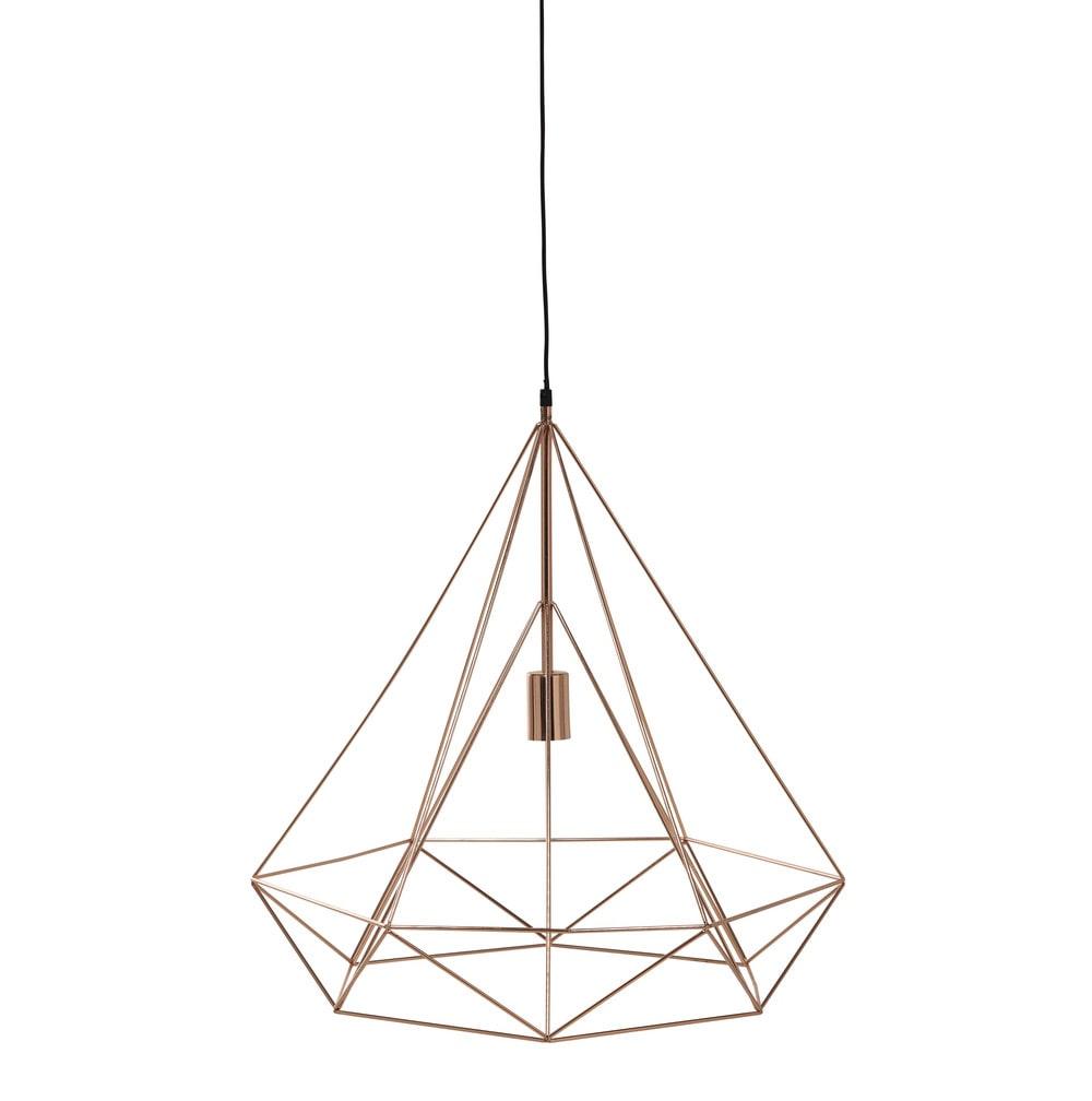 h ngeleuchte iron copper aus metall d 60 cm kupferfarben maisons du monde. Black Bedroom Furniture Sets. Home Design Ideas