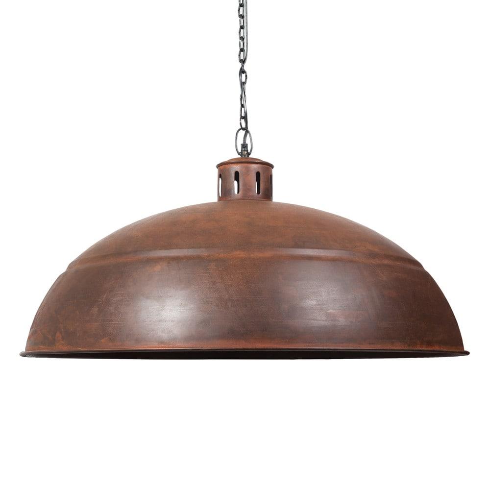H ngeleuchte s raphin aus metall mit rosteffekt d 82 cm for Maison du monde lampadari