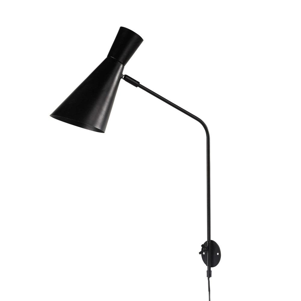 Wall Lights In Black : HARRIS metal wall light in black H 65cm Maisons du Monde