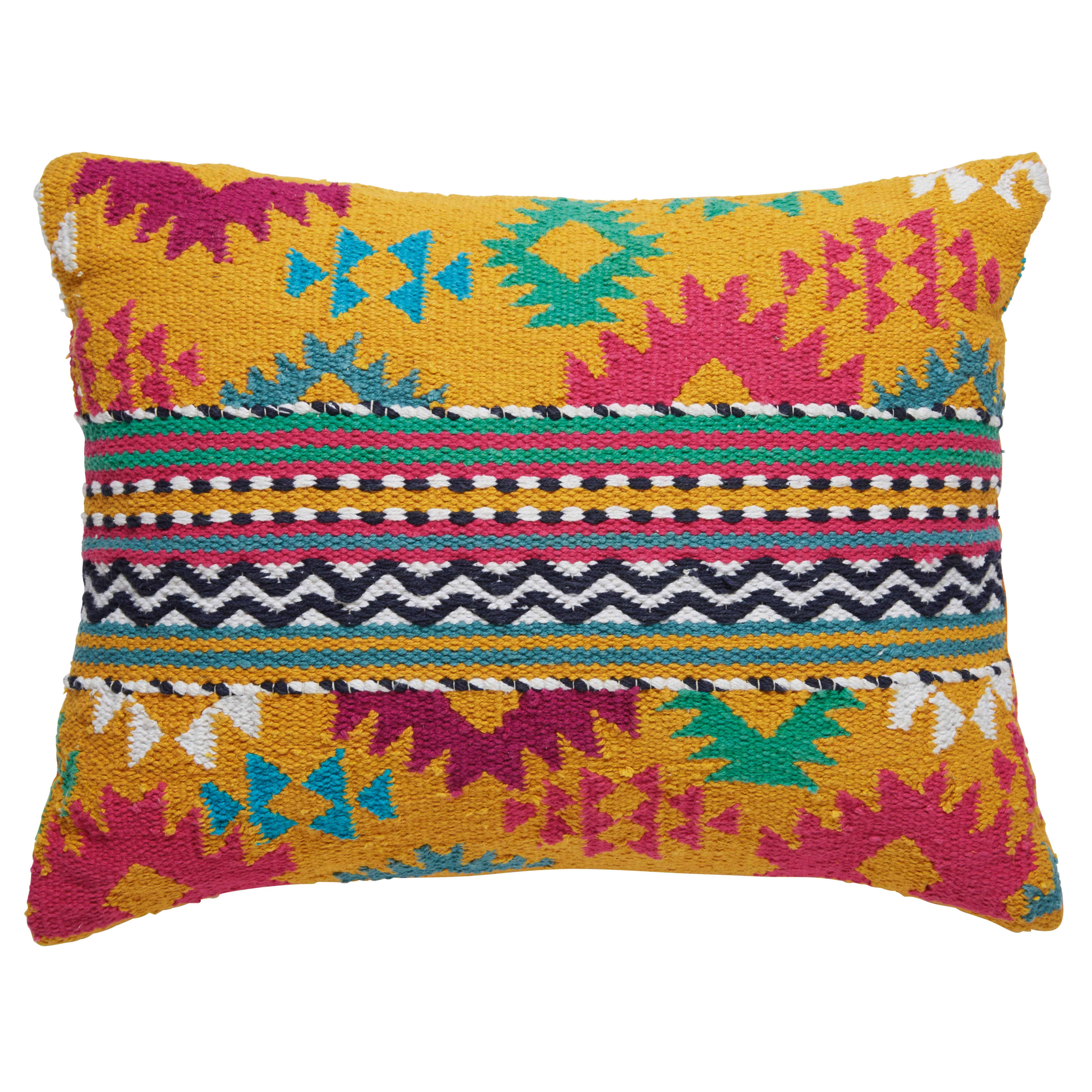 Hatan multicoloured cotton ethnic cushion 35 x 50 cm - Maison du monde coussin de chaise ...