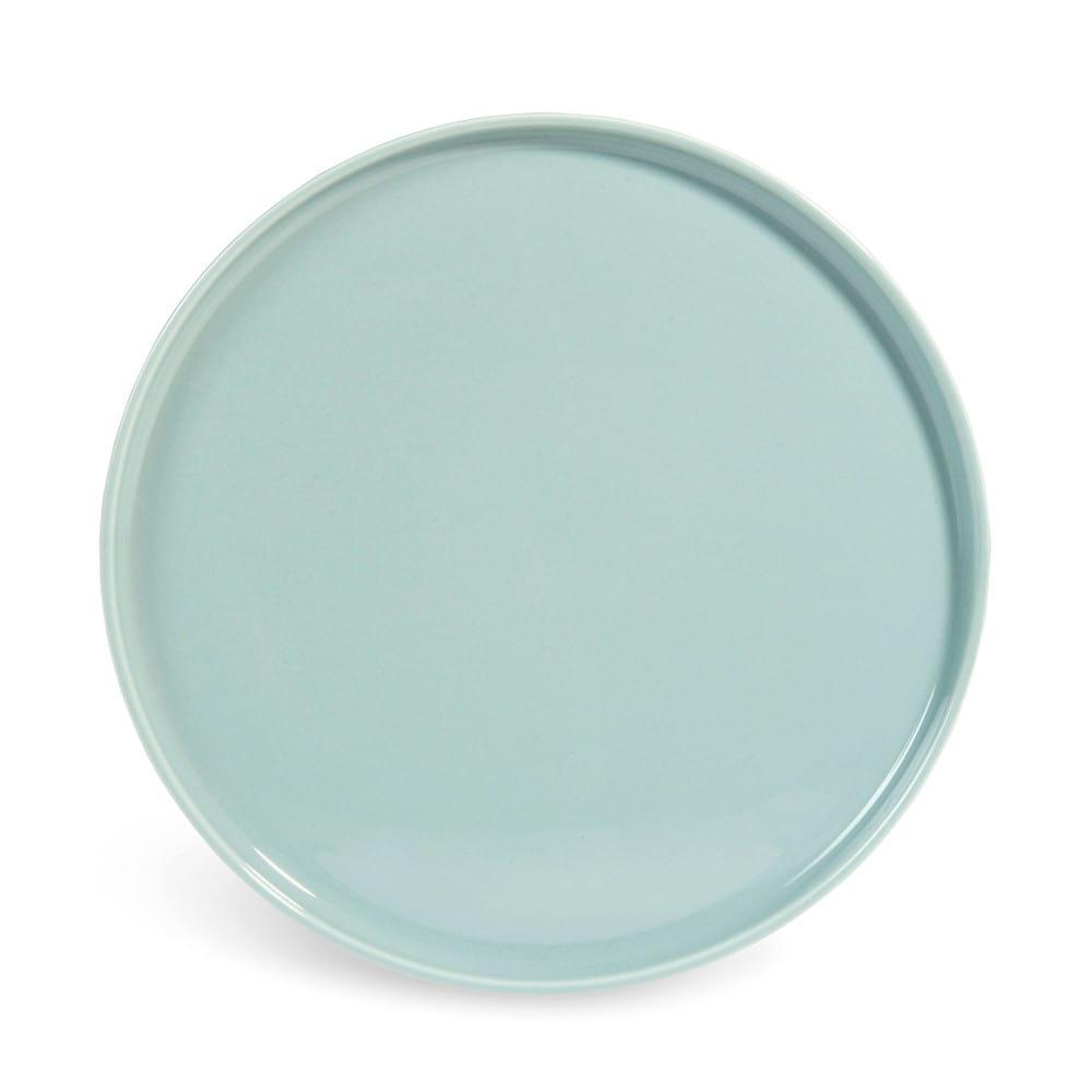 Helsinki earthenware dinner plate in blue d 27cm maisons - Maison autour du monde ...