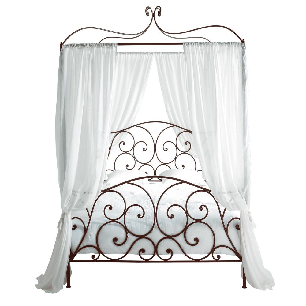 himmelbett aus metall 140 x 190 braun sheherazad. Black Bedroom Furniture Sets. Home Design Ideas