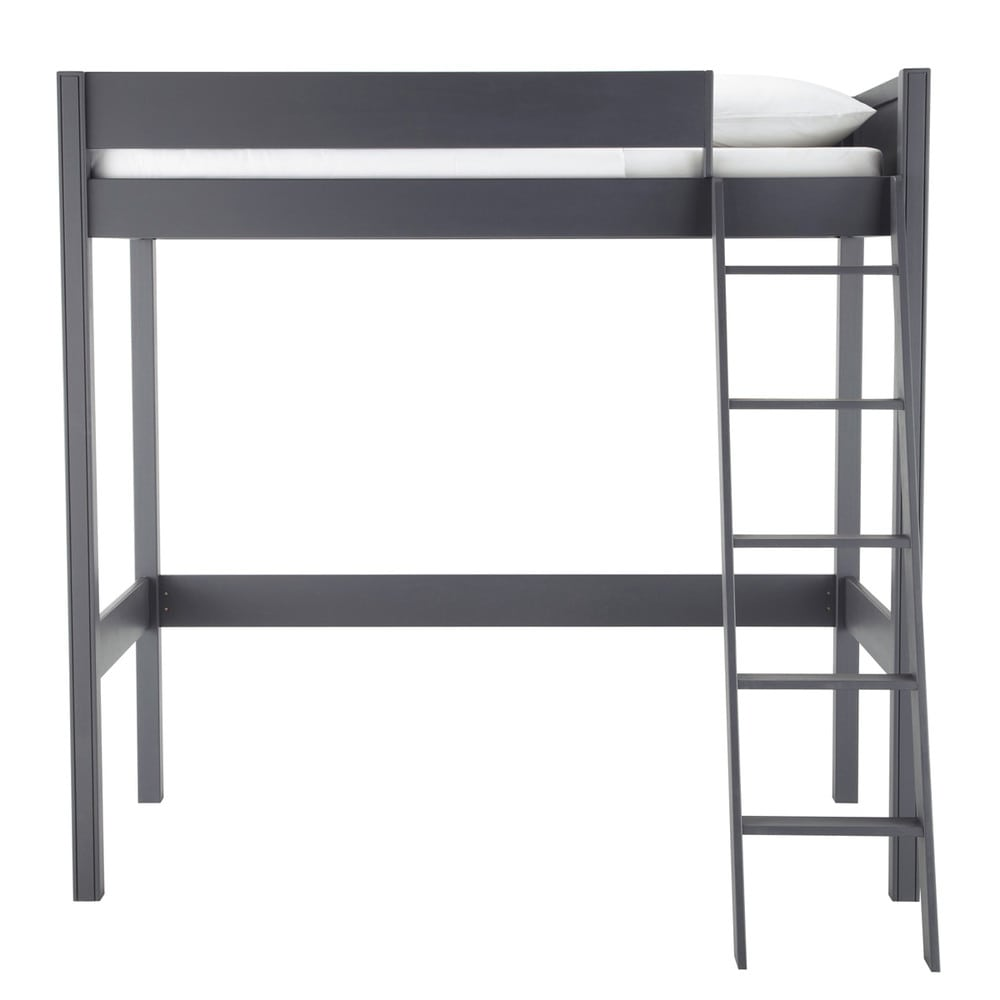 hochbett aus holz 90 x 190 cm grau newport maisons du monde. Black Bedroom Furniture Sets. Home Design Ideas