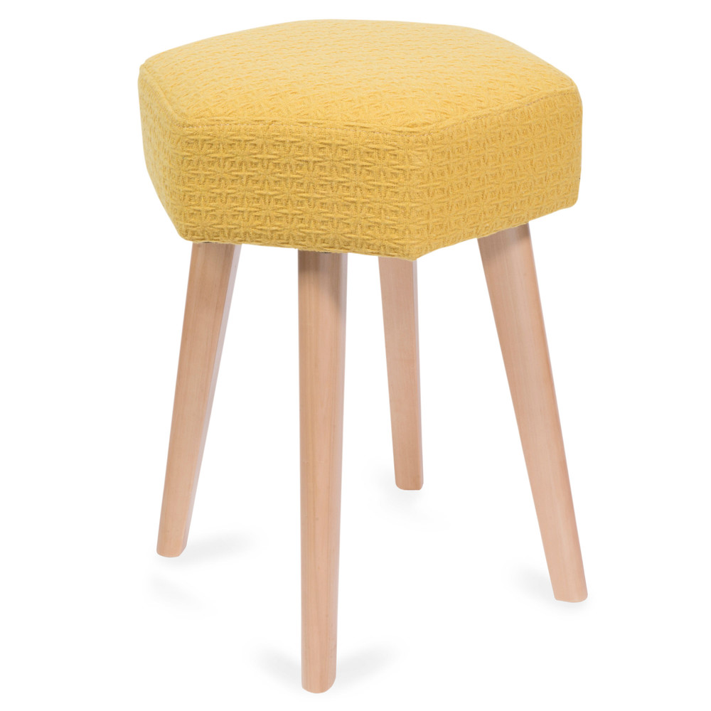 hocker aus holz gelb yep maisons du monde. Black Bedroom Furniture Sets. Home Design Ideas