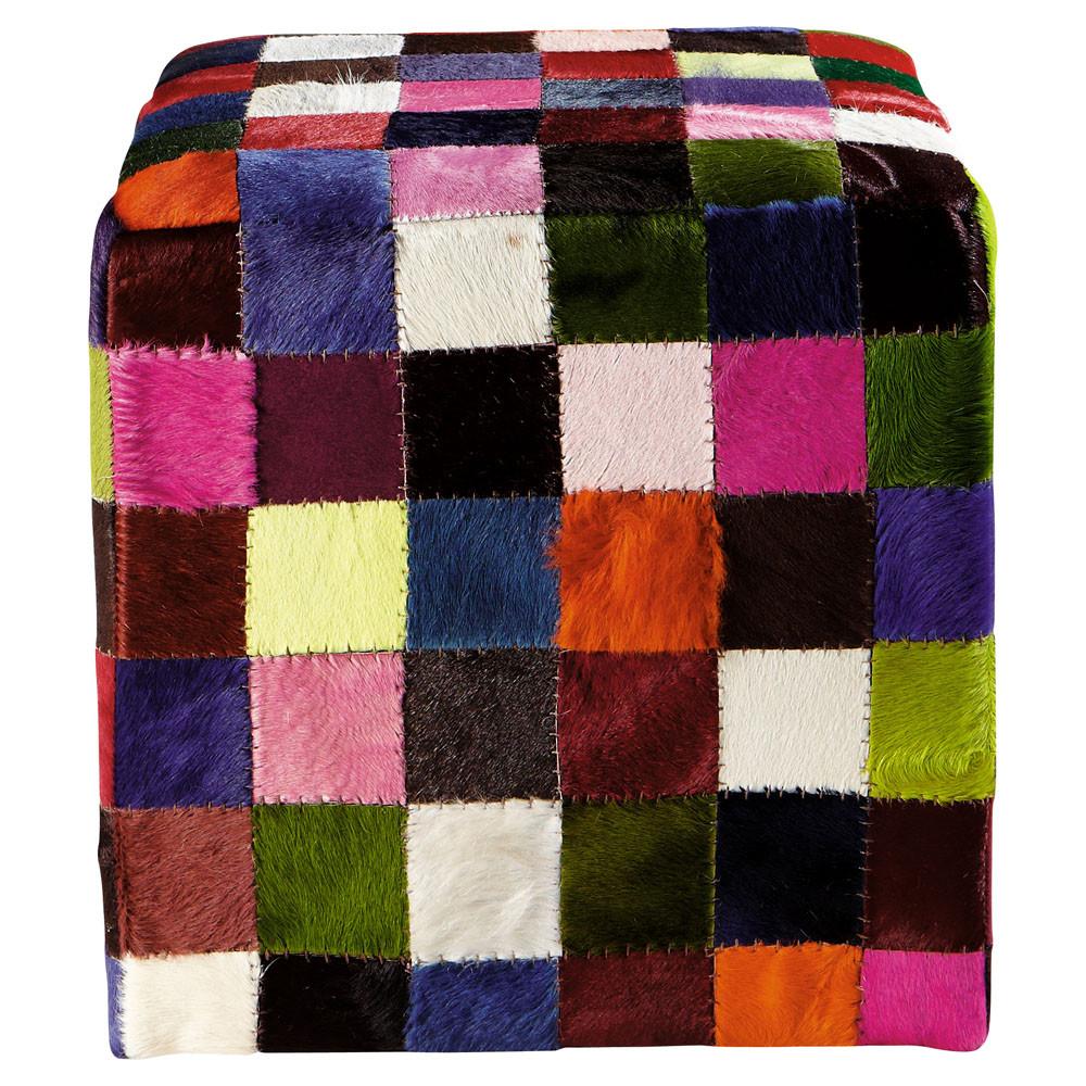 hocker cube bunt maisons du monde. Black Bedroom Furniture Sets. Home Design Ideas