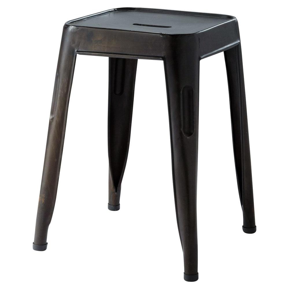 hocker im industrial stil aus metall schwarz jim. Black Bedroom Furniture Sets. Home Design Ideas