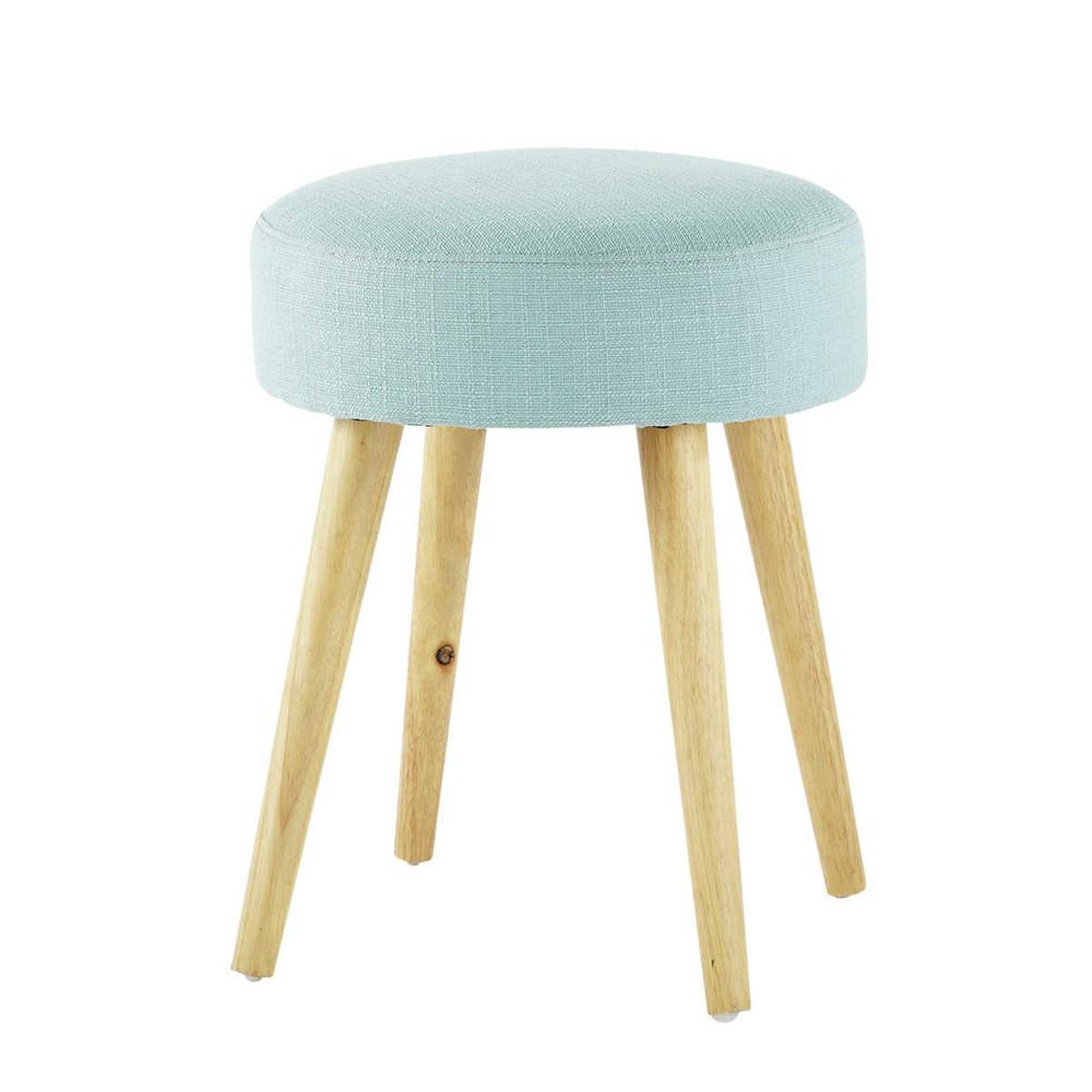 hocker pin 39 up aus stoff und holz blau maisons du monde. Black Bedroom Furniture Sets. Home Design Ideas