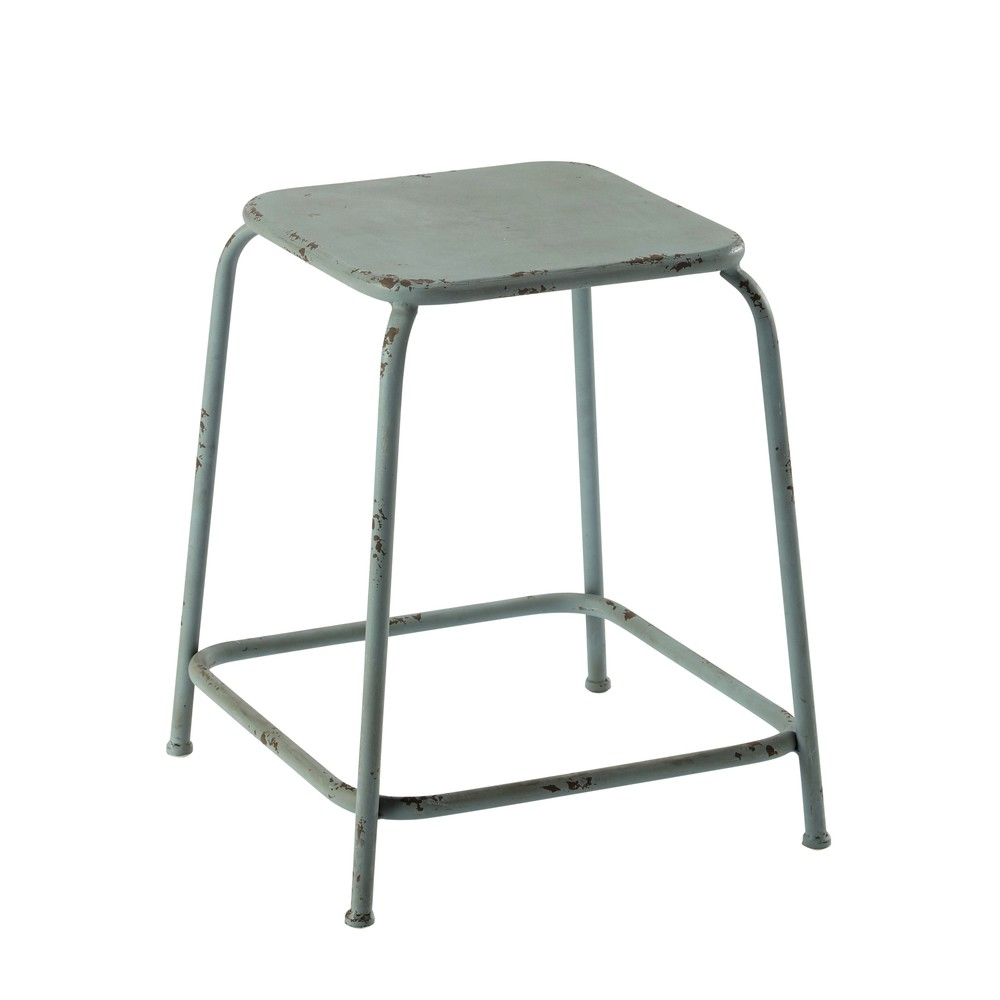 hocker ronan aus metall blau maisons du monde. Black Bedroom Furniture Sets. Home Design Ideas