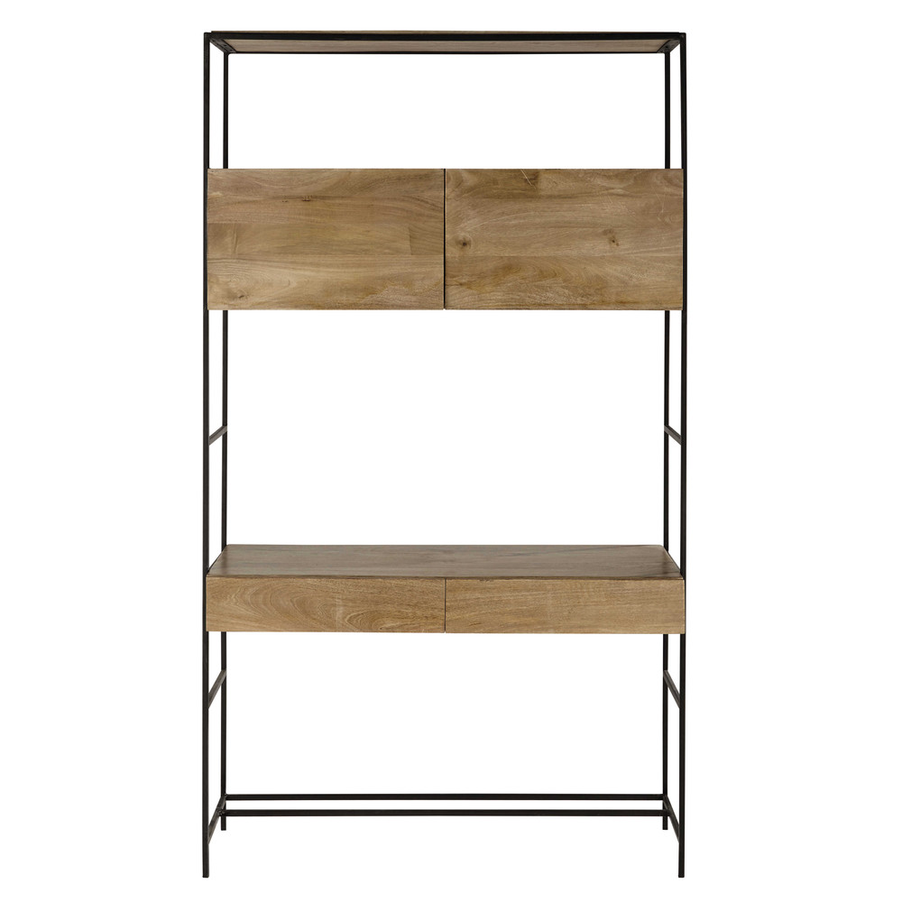 hoher schreibtisch aus metall b 120 cm schwarz wilson maisons du monde. Black Bedroom Furniture Sets. Home Design Ideas