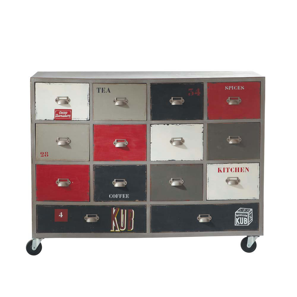 holzkommode auf rollen b 110 cm taupe marmiton marmiton maisons du monde. Black Bedroom Furniture Sets. Home Design Ideas
