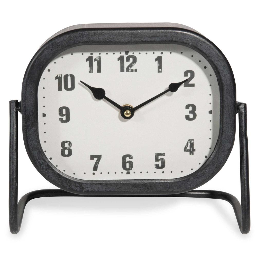 Horloge poser en m tal 23x20cm horbec maisons du monde - Horloge a poser maison du monde ...