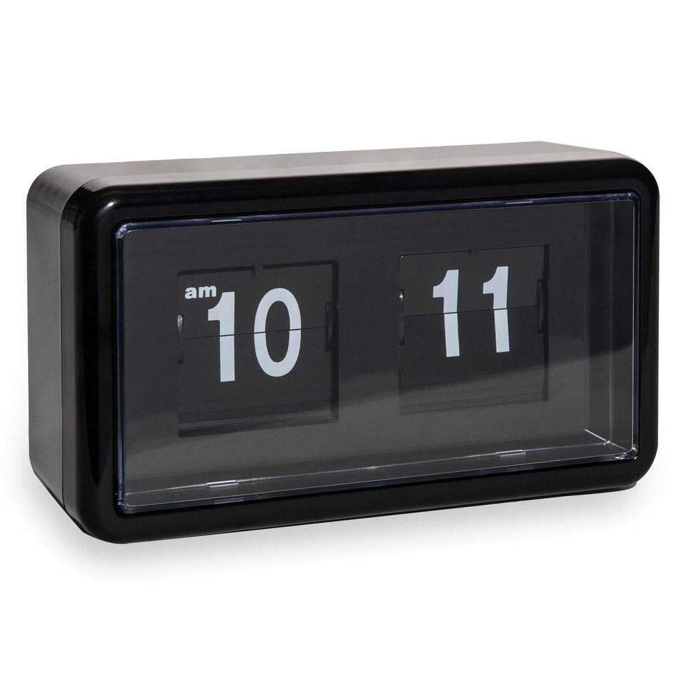 Horloge poser flip flap noire pop maisons du monde - Horloge a poser maison du monde ...